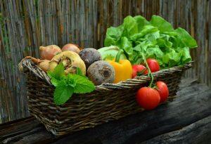 vegetables, basket, vegetable basket